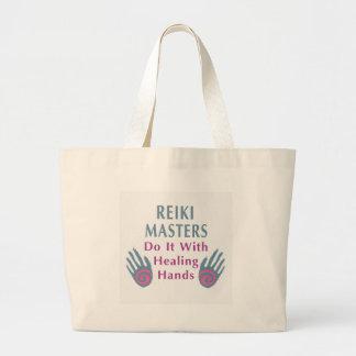 Reiki Masters Do It with Healing Hands Jumbo Tote Bag