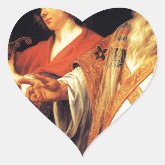 Religious allegory by Jacob Jordaens Heart Sticker