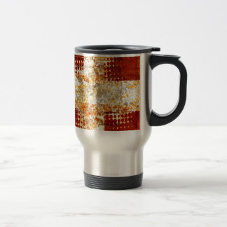 Religious halftone cross 15 oz stainless steel travel mug