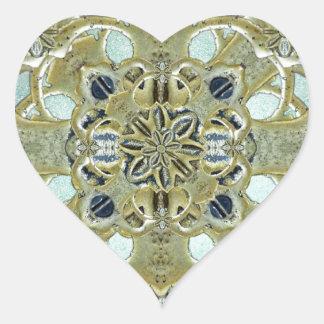 Religious Mystic Cross Heart Sticker