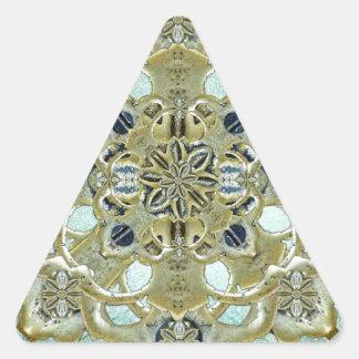Religious Mystic Cross Triangle Sticker