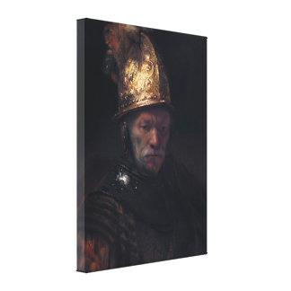 Rembrandt's Man in a Golden helmet Canvas Prints
