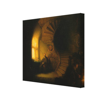 Rembrandt's The Philosopher in Meditation Stretched Canvas Prints