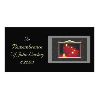Remembrance Candles & Vines Customized Photo Card