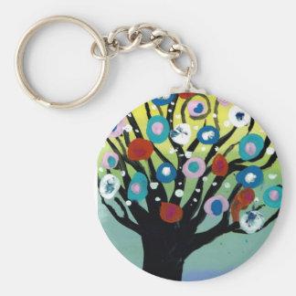 rena tree basic round button keychain