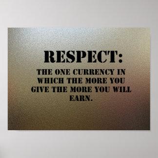 Respect on chrome plating. poster