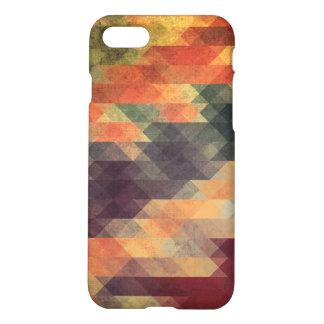 Retro Geometric Bold Stripes Worn Colors iPhone 7 Case