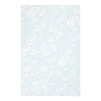 Retro Paisley in Teal Blue Custom Stationery
