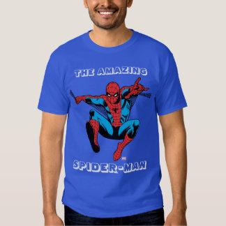 Retro Spider-Man Web Shooting T Shirts