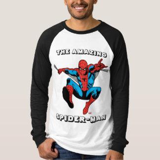 Retro Spider-Man Web Shooting Tee Shirts