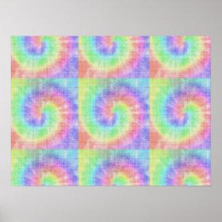 Retro Tie Dye Pastel Pattern Swirl Poster