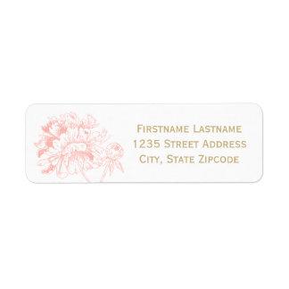 Return Address Labels | Coral Peony Design