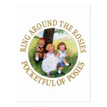 Ring Around the Rosies, Pocketful of Posies Postcard
