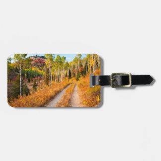 Road Through Autumn Colors Travel Bag Tags