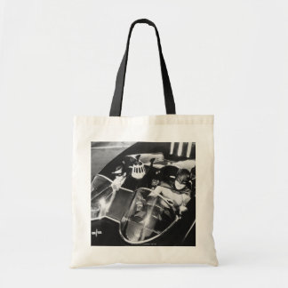 Robin and Batman in Batmobile Budget Tote Bag