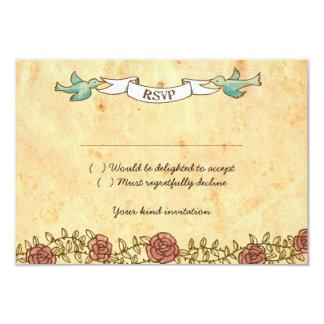 "Rock 'n' Roll Wedding (Roses) RSVP w/ envelopes 3.5"" X 5"" Invitation Card"