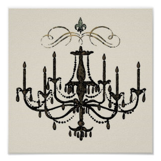 Romance with a Chandelier ~ Print / Poster