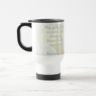 Romans 6:23 Rose Scripture 15 Oz Stainless Steel Travel Mug