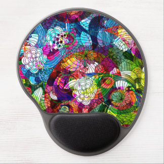 Romantic Floral Collage Pattern Gel Mouse Pad
