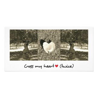 Romantic greeting card photo card template