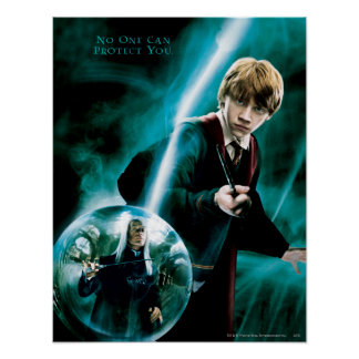 Ron Weasley and Lucius Malfoy Poster