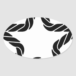 Rope Star Icon Oval Sticker