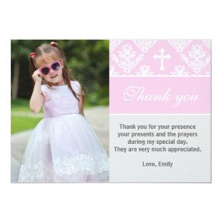 Rose fait sur commande de carte photo de note de carton d'invitation  12,7 cm x 17,78 cm