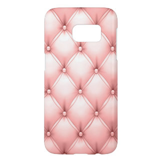Rose Quartz Colored Pastel Pink Kawaii Leather Samsung Galaxy S7 Case