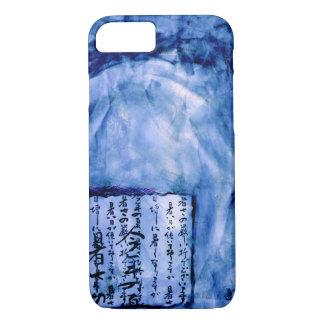 Royal Blue Distressed Script Art Watercolor Vivid iPhone 7 Case