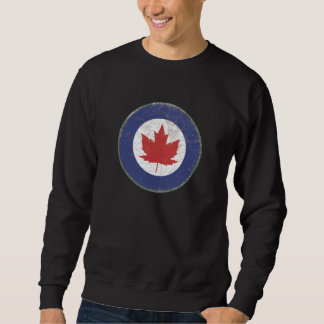 ROYAL CANADIAN AIR FORCE (RCAF) ROUNDEL RUSTIC PULL OVER SWEATSHIRTS
