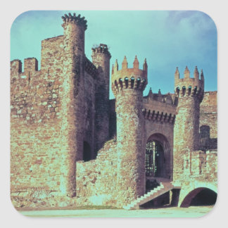 Ruins of the Castle of the Knights Templar Square Sticker