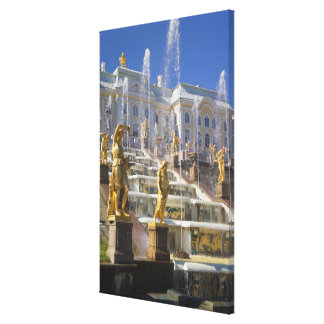 Russia, St. Petersburg, The Great Cascade, Stretched Canvas Print