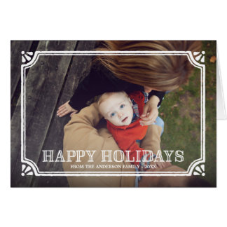 Rustic Frame   Folded Holiday Greeting Card