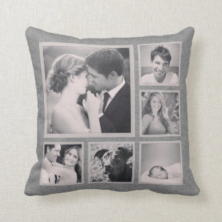 Rustic Instagram Photo Collage Pillows