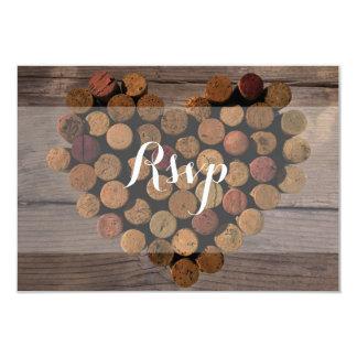 "Rustic Wine Cork RSVP Card 3.5"" X 5"" Invitation Card"