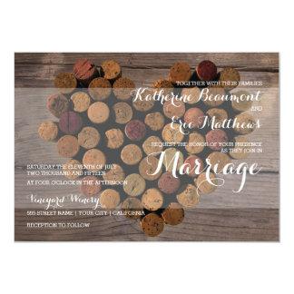 Rustic Wine Cork Wedding Invitation