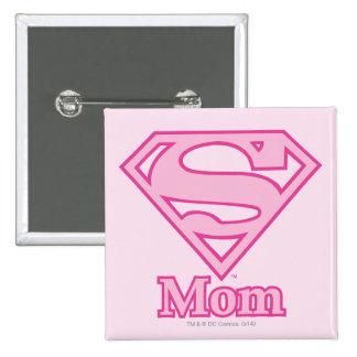 S-Shield Mom 2 Inch Square Button