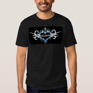Sacred Heart Blue Flame Tattoo 2 Tee Shirt