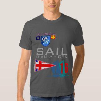 Sail Team A Yachting GBR Great Britain Flag Tshirt