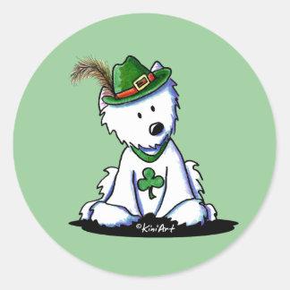 Saint Paddy's Westie Terrier Round Sticker