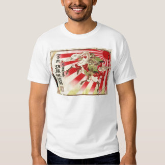 Sake for a Samurai Vintage Woodblock Print Shirts