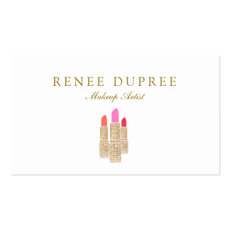 Salon de beauté de maquilleur de rouge à lèvres de carte de visite standard