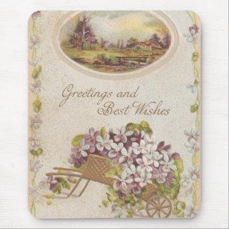 Salutations vintages et meilleurs voeux tapis de souris
