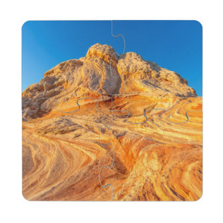 Sandstone Formations At The White Pocket Drink Coaster Puzzle