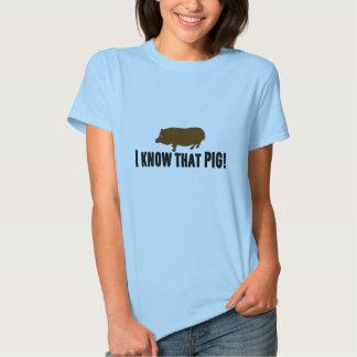 """Sang vrai """"je connais ce porc """" t shirt"""