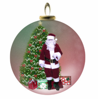 Santa Globe Standing Photo Sculpture