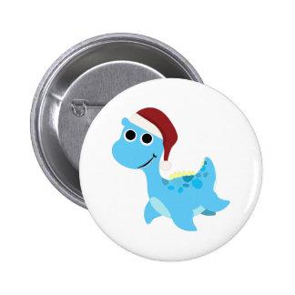 Santa Nessie 2 Inch Round Button