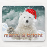 Santa Polar Bear | Beary Christmas Mousepad