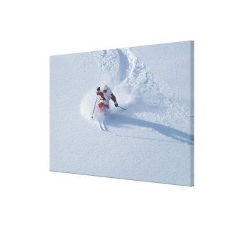 Santa Skiing at Snowbird Ski Resort, Wasatch Gallery Wrap Canvas