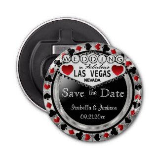 Sauvez le style de Las Vegas de date - argent et Ouvre-bouteilles